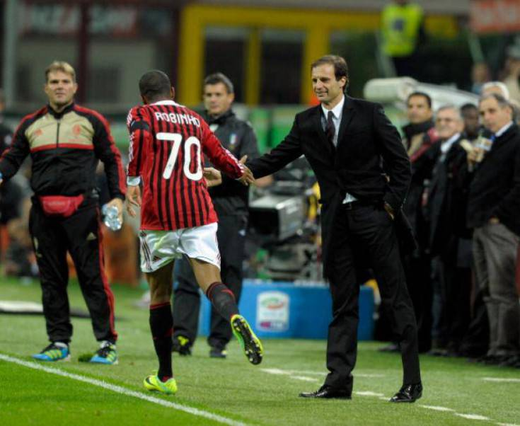 Robinho  e Allegri - Getty Images