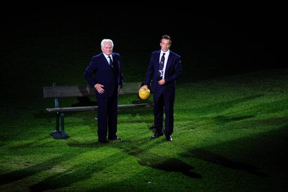 Giampiero Boniperti, qui con Del Piero (getty images)