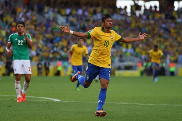 Neymar dopo la prodezza contro il Messico - Getty Images