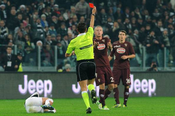 Kamil Glik espulso nel penultimo derby (getty images)