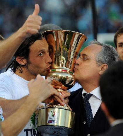 Stefano Mauri e Claudio Lotito - Getty Images