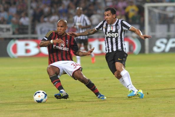 Carlos Tevez nel match contro il Milan (getty images)