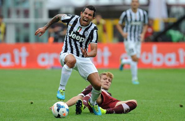 Il fallo di Immobile su Tevez (getty images)