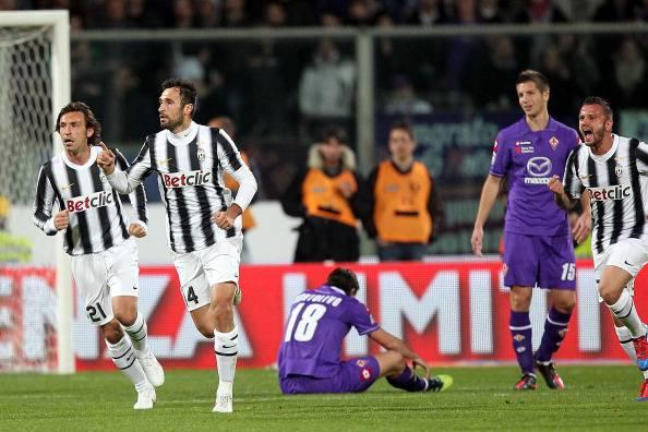 Fiorentina-Juventus del marzo 2012 (getty images)