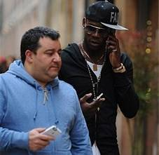 Mino Raiola, qui con Balotelli (getty images)