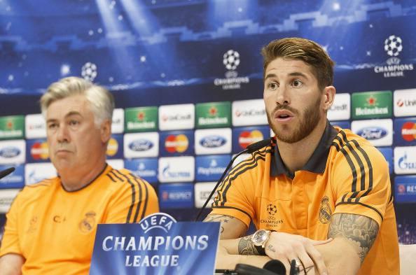 Carlo Ancelotti e Sergio Ramos (getty images)