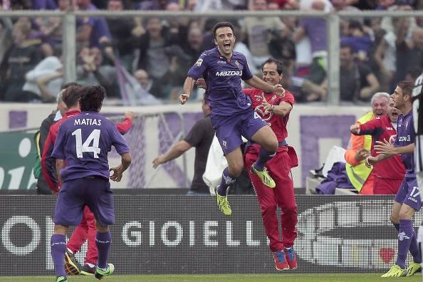 Rossi esulta nel match contro la Juve (getty images)