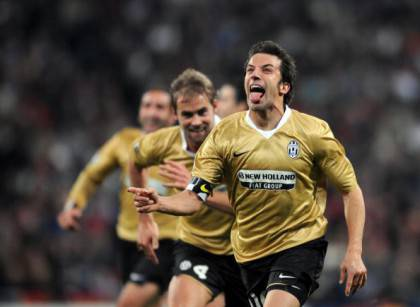 L'esultanza di Del Piero al Bernabeu (getty images)