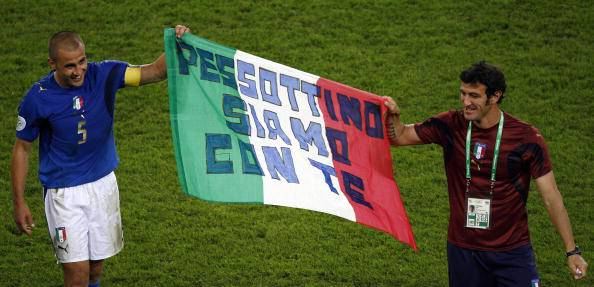 Cannavaro e Ferrara vicini a Pex ai Mondiali 2006 - Getty Images