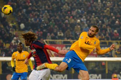 Il 2-0 di Chiellini al Bologna (getty images)