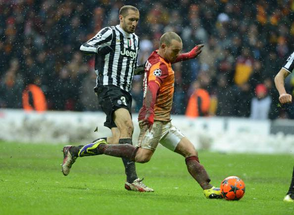 Il gol di Sneijder alla J (getty images)