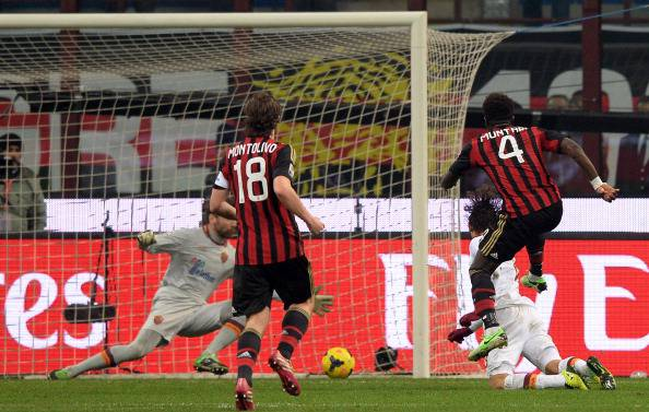 Il gol di Muntari in Milan-Roma (getty images)