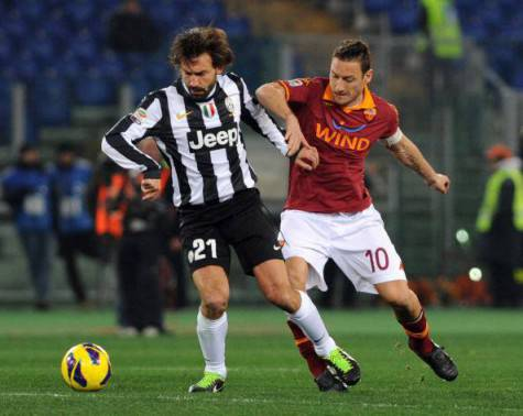 Andrea Pirlo e Francesco Totti (getty images)