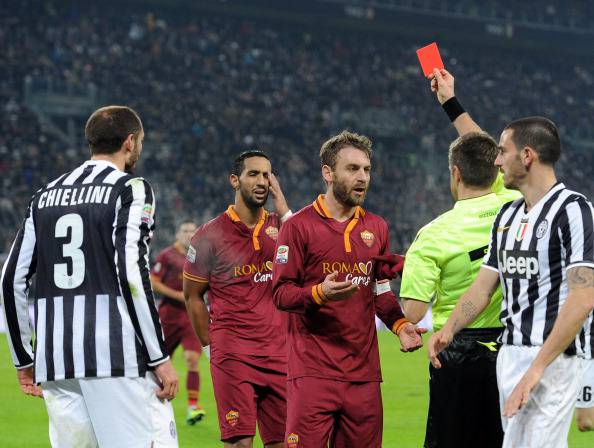 L'espulsione di De Rossi (getty images)