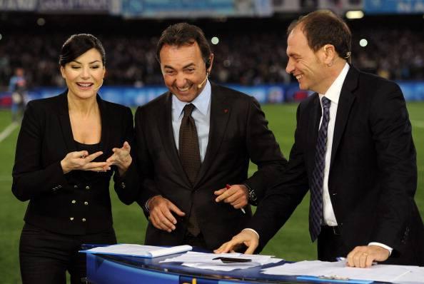 Massimo Mauro, qui con Ilaria D'Amico e Luca Marchegiani (getty images)