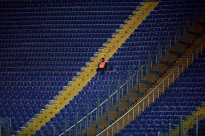 Stadio Olimpico vuoto (getty images)