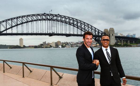 Alex Del Piero e Edgar Davids a Sydney (getty images)