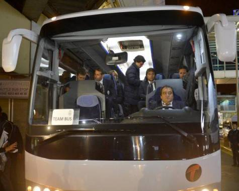 Il bus della Juventus (Getty images)