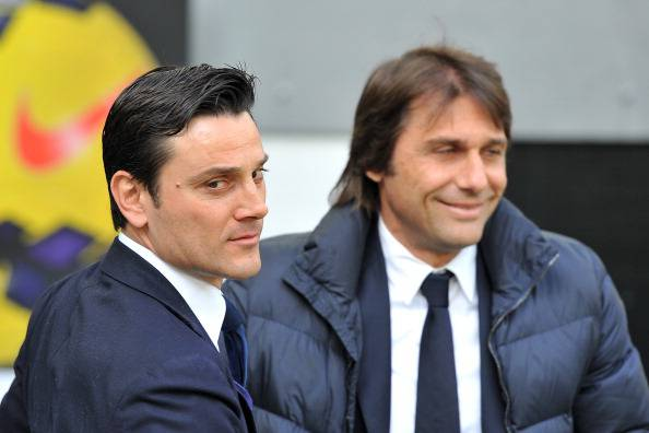 Montella e Conte (getty images)