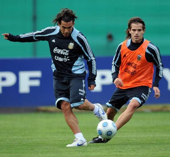 Tevez e Gago in Nazionale (getty images)