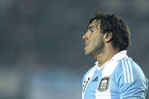 Carlos Tevez con la maglia dell'Argentina (getty images)