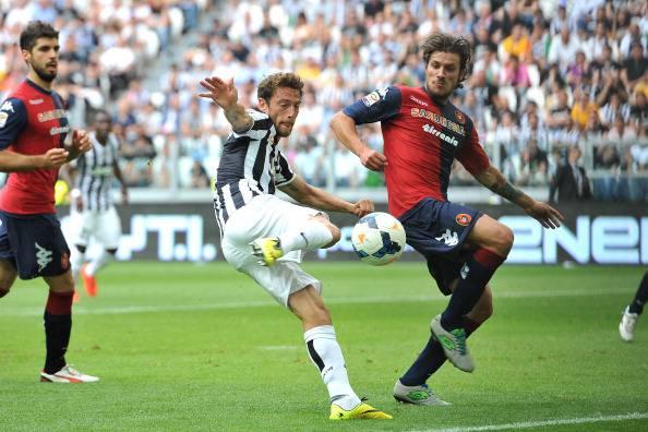 Claudio Marchisio segna il terzo gol contro il Cagliari (getty images)