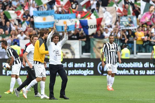 Antonio Conte ieri allo Stadium (getty images)