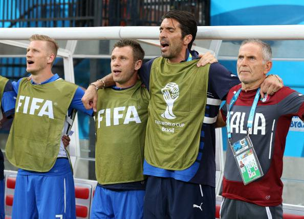 Buffon e Cassano (getty images)