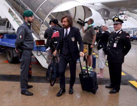 Andrea Pirlo al suo ritorno in Italia (getty images)