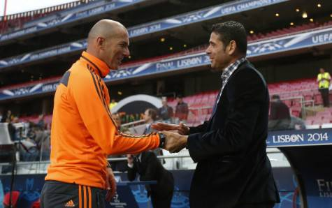 Hierro e Zidane (getty images)