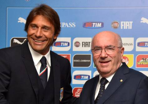 Antonio Conte e Carlo Tavecchio (getty images)