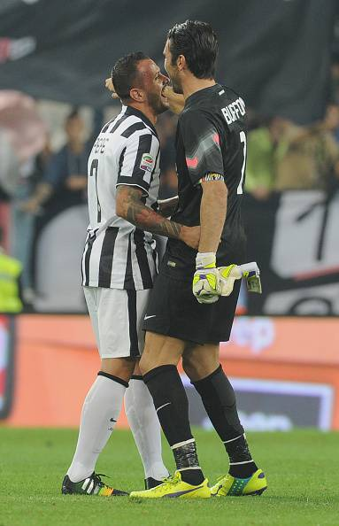 Pepe con Buffon - getty images