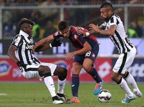 Pogba-Vidal nel match contro il Genoa (getty images)