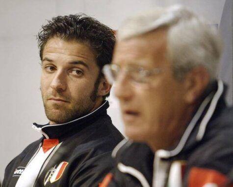 Lippi e Del Piero ai tempi bianconeri (getty images)