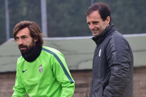 Andrea Pirlo e Max Allegri (getty images)