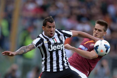 Rafa Toloi contro Tevez (getty images)