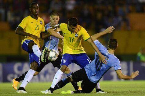 Gerson col numero 21 della Nazionale giovanile brasiliana (getty images)
