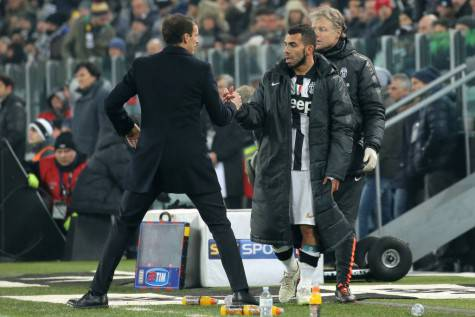 Allegri e Tevez - Getty Images