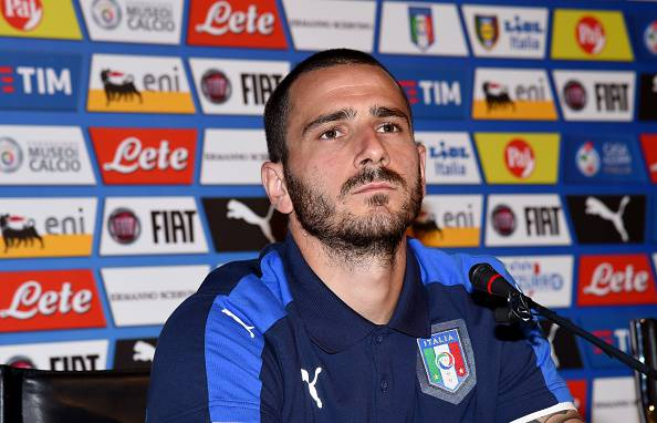 Leonardo Bonucci con l'Italia ©Getty Images