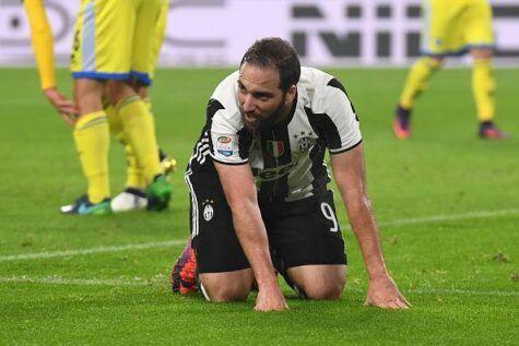 Juventus, Higuain verso il forfait contro il Genoa. Probabile assente anche Benatia
