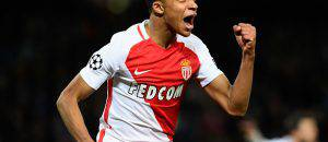 Mbappè del Monaco i gol in Champions League