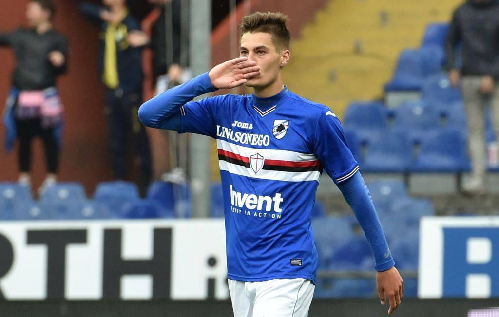 Patrick Schick esulta con la Sampdoria ©Getty