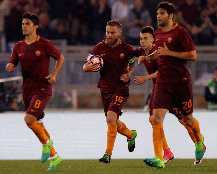 Daniele De Rossi in Roma-Juventus © Getty