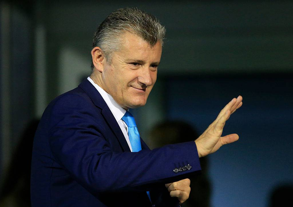 Davor Suker ai sorteggi Champion © Getty