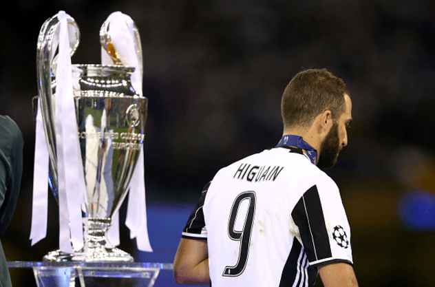 Higuain deluso nella finale Champions © Getty Images