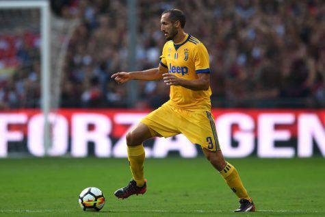 Giorgio Chiellini con la Juventus © Getty Images