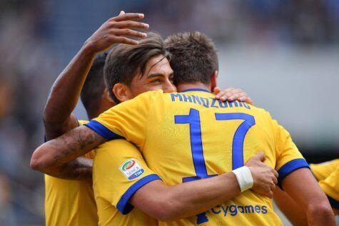 Esultanza attaccanti Juventus