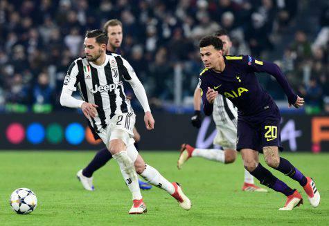Juventus, si ferma anche De Sciglio: il terzino salta l'Atalanta