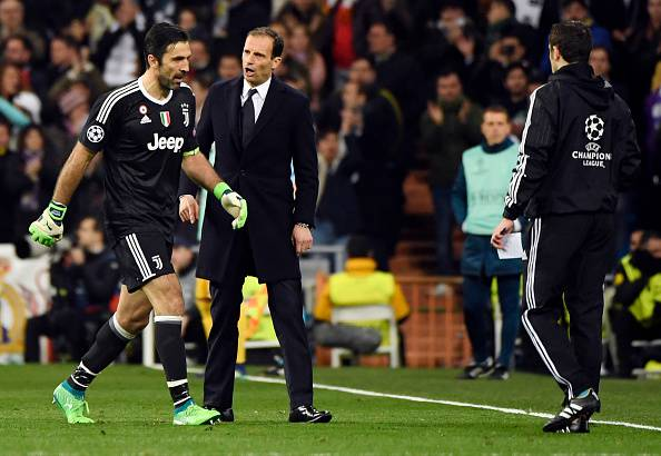 Buffon e Allegri Real-Juve