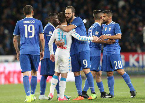 Juventus-Napoli Higuain Mertens numeri a confronto